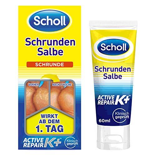 Scholl Schrundensalbe Active Repair K+ gegen Hautschäden an rauen, trockenen & rissigen Fersen – ...