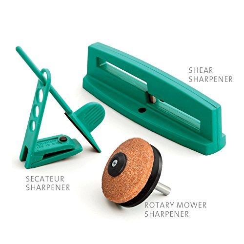Multi-Sharp 1801 Mehrzweck-Messerschärfer-Set für Gartenwerkzeug wie Sichelmahermesser, Gartensche...
