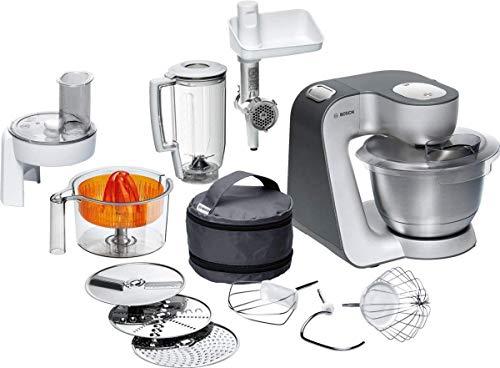 Bosch MUM5 Styline Küchenmaschine MUM56340, vielseitig einsetzbar, große Edelstahl-Schüssel (3,9l...