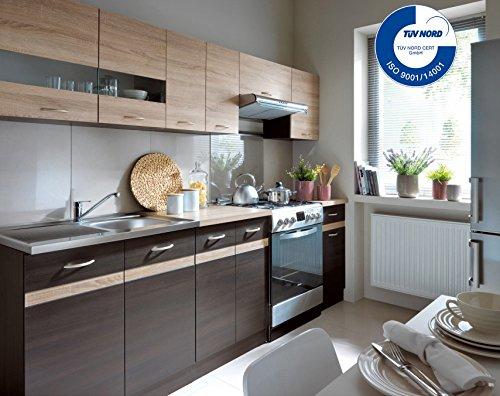 Küche 240cm von FIWODO® - ERWEITERBAR - günstig + schnell - Einbauküche Junona Line Set 240 - 4 ...