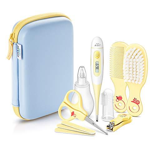 Philips Avent Babypflege-Set SCH400/00, 10 Teile, für zu Hause und unterwegs, gelb