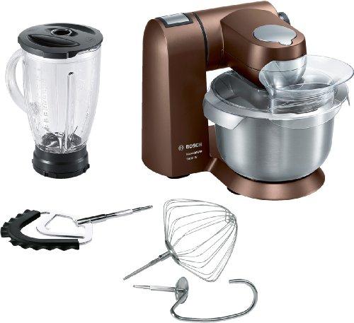 Bosch MUMXL20C Küchenmaschine MaxxiMum (1.600 Watt, 5,4l Edelstahlschüssel, Smart dough Sensor) da...