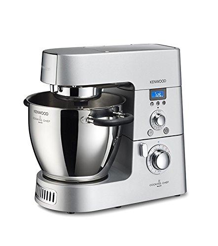 Kenwood Cooking Chef KM096 Küchenmaschine (1500 Watt, Induktion 20-140°C, 6,7 L Füllmenge, 1,6 L ...
