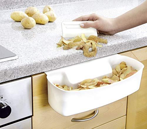 Wenko Auffangschale für Küchenabfälle, Abfallbehälter für Bio-Abfall in der Küche, zum Einhän...