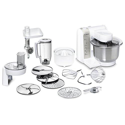 Bosch MUM48140DE Küchenmaschine (Vielseitigkeit durch diverses Zubehör, große Rührschüssel, 4 R...