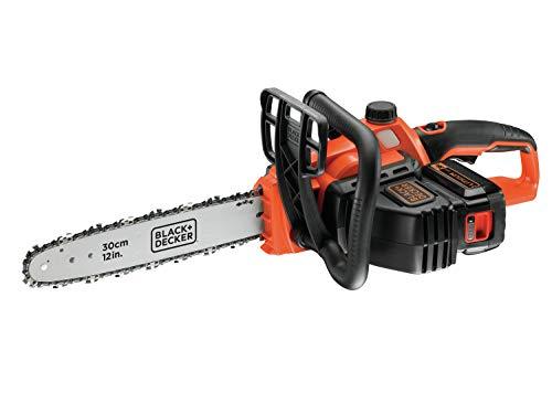 Black+Decker Li Ion Akku Kettensäge 36V GKC3630L20 mit Akku und Ladegerät – Ideal für Holz- & G...