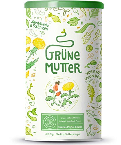 Grüne Mutter | Smoothie Pulver | Das Original Superfood Elixier u.a. mit Weizengras, Brennnessel, M...