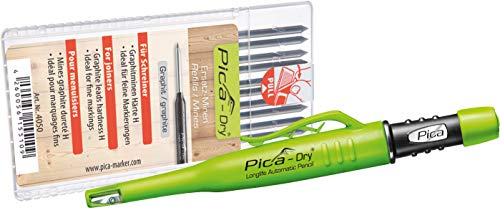 Pica Marker Dry Longlife Automatic Pen 3030 + 10 St. Graphit-Mine 4050, Ersatzminen, Härte H
