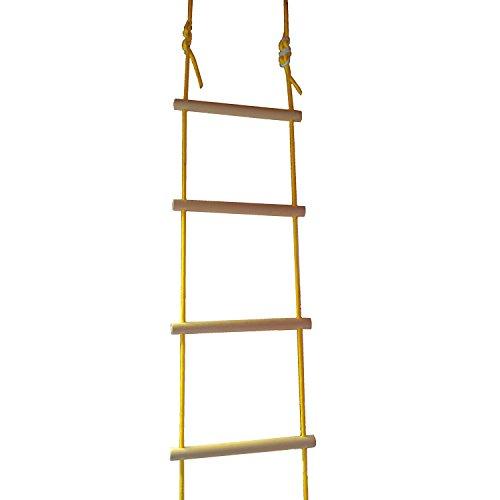 NiroSport Strickleiter für Kinder und Erwachsene bis 80 kg, für Outdoor und Indoor, TÜV geprüft,...