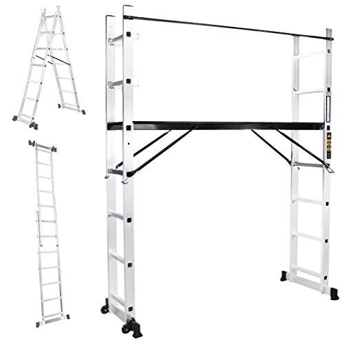 Aluger/üst Bauger/üst Aluminium Multiger/üst//Leiter Tragf/ähigkeit bis 150 kg