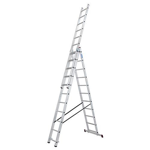 KRAUSE 30429 Mehrzweckleiter inkl. Traverse Arbeitshöhe (max.): 7.25 m Corda 030429 Aluminium 18 kg