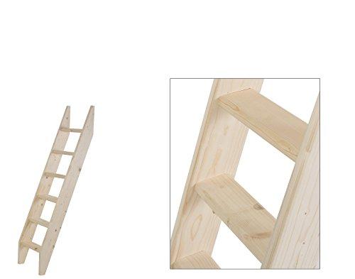 Intercon® Holztreppe aus Fichte Massivholz in 4 Größen (145, 190, 240, 260 cm) (6 Stufen (145 cm)...