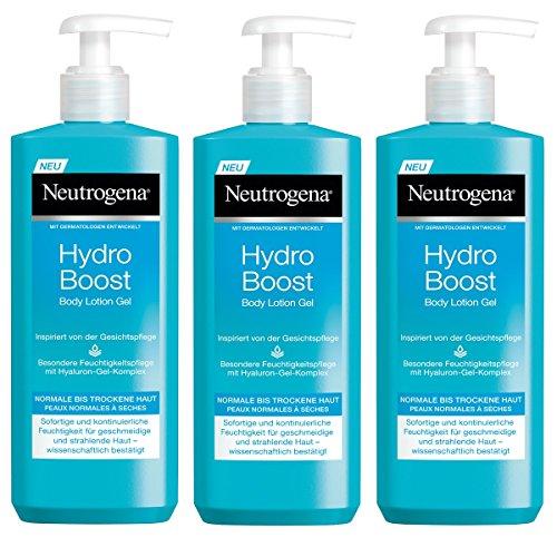 Neutrogena Hydro Boost Body Lotion Gel, erfrischende und ultraleichte Körperlotion für trockene Ha...