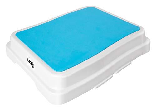 UPP 10 cm Badezimmer-Stufe stapelbar & erweiterbar | Belastbar bis 189 kg | Tritthocker für Seniore...