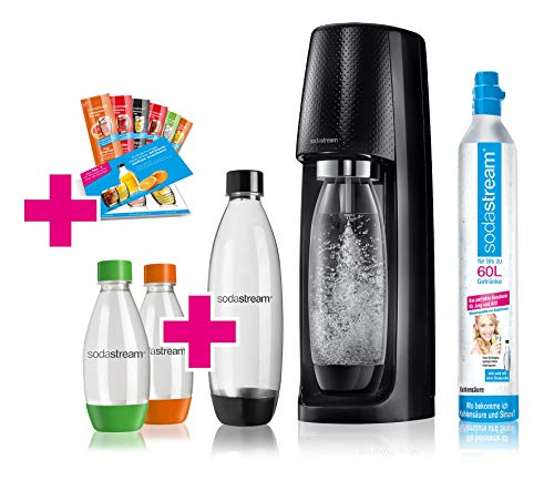 SodaStream Easy Wassersprudler-Set Vorteilspack mit CO2- Zylinder, 2x 1 L PET-Flasche, 2x 0,5 L PET-...
