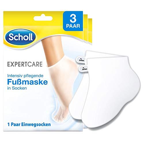 Scholl EXPERTCARE Intensiv pflegende Fußmaske in Socken – Feuchtigkeitsspendende Fußpflege für ...