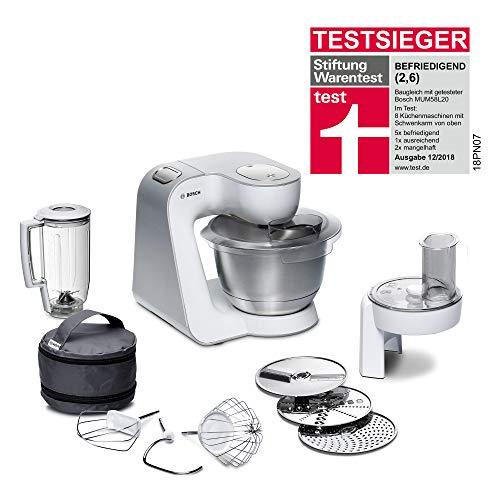 Bosch MUM5 CreationLine Küchenmaschine MUM58W20, vielseitig einsetzbar, große Edelstahl-Schüssel ...