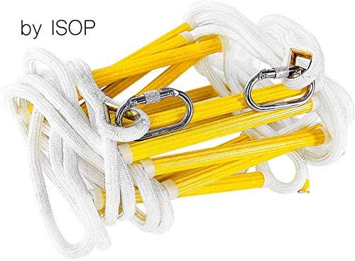 ISOP Feuerfeste Rettungsleiter - Notfall-Feuerleiter 7.5 m (25 Fuß 3 Stockwerke) Sicherheitsleitern...