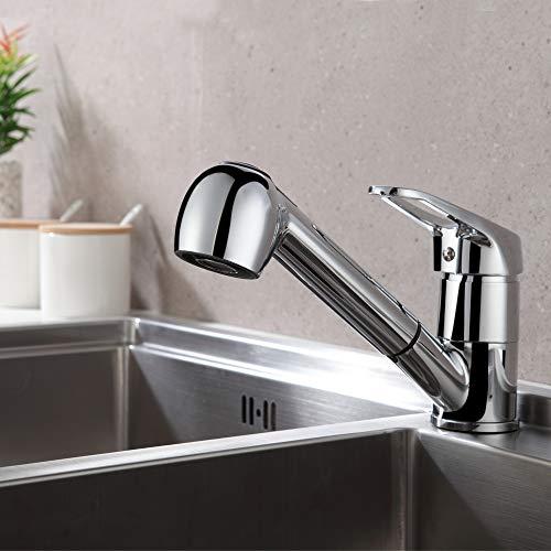 Auralum Einhebel Küchenarmatur mit 2 Strahlarten Geschirrbrause Wasserhahn Küche ausziehbar Spült...