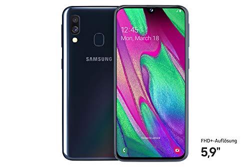 Samsung Galaxy A40 Smartphone (15.0cm (5.9 Zoll) 64GB interner Speicher, 4GB RAM, Dual SIM, schwarz)...