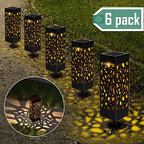 【6 Stück 】Solarleuchten Garten, Solar Gartenleuchte IP65 Wasserdichte, Solarlampen für Garten ...