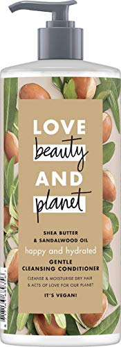 Love Beauty And Planet Happy & Hydrated Gentle Cleansing Conditioner, für trockenes Haar Sheabutter...