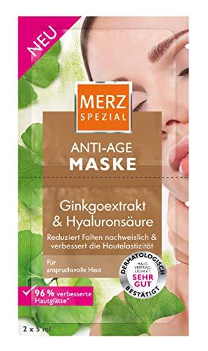 Merz Spezial Anti Age Maske – Gesichtsmaske mit Ginkgoextrakt & Hyaluronsäure – Reduziert Falte...