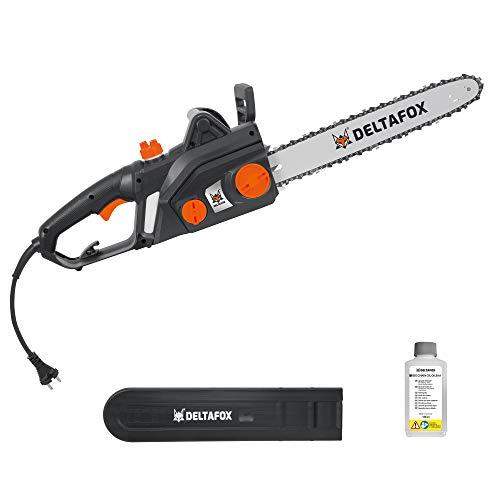 DELTAFOX Elektro Kettensäge - 2200 W - 40 cm Schnittlänge - Qualitätsschwert und Kette - Softstar...