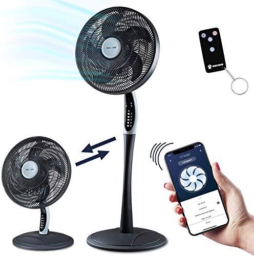 2in1 Standventilator extra leise| Smarte Tuya App + Amazon Alexa + Google Assistant |VTX300 55W Tisc...