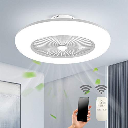 Deckenventilator mit Beleuchtung LED-Licht Einstellbare Windgeschwindigkeit Dimmbar mit Fernbedienun...