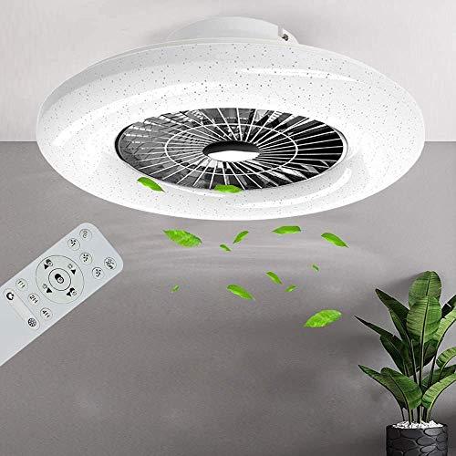 PADMA Deckenventilator mit Beleuchtung & Fernbedienung Leise Dimmbar mit Timer, Einstellbare Windges...