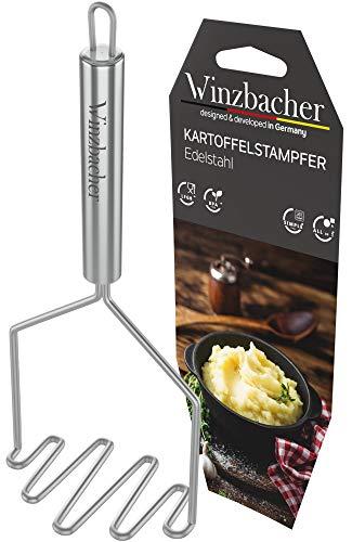 Winzbacher® - Edelstahl Kartoffelstampfer [Spülmaschinenfest] ideal zum Pürieren oder Stampfen vo...