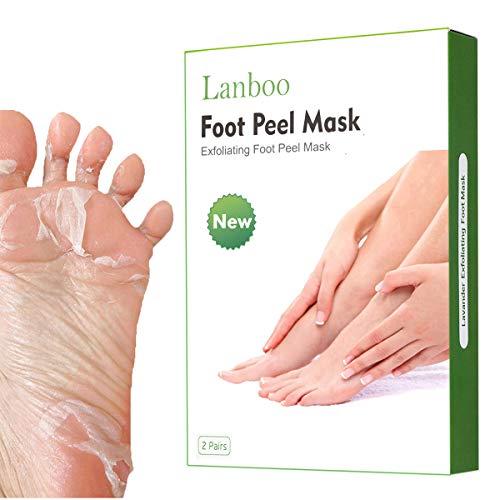 Lanboo Fußpeeling Maske | FußMaske Hornhaut Entfernung | Socken Hornhaut entfernen | Repariert Rau...