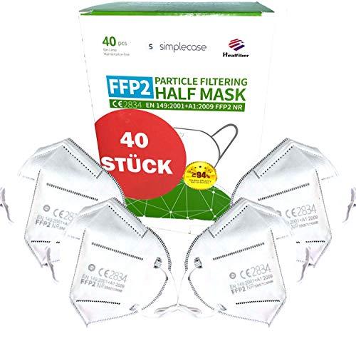 Simplecase FFP2 Maske, Atemschutzmaske, Partikelfiltermaske, EU CE Zertifiziert von Offiziell benann...